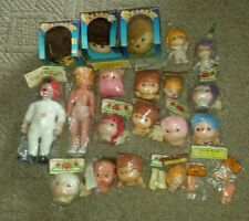 Vintage Darice Craft Supply Lot Heads Hands Clown Cabbage Patch Doll Wang's