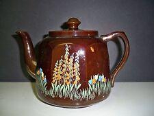 BROWN TEA POT SUDLOW AND SONS ENGLAND BURSLEM