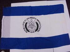 """Republica De El Salvandor America Central Futbol Soccer Flag Banner 38""""x58"""" New"""