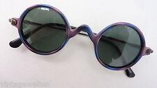 Inkognito Sonnenbrille unisex Damen o. Herren Kunststoff rund blau bunt size M