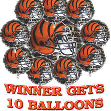 NFL FOOTBALL PARTY! 10 NEW CINCINNATI BENGALS BALLOONS