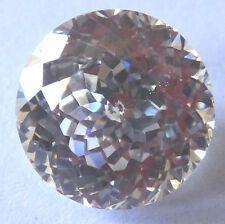 Top 7 mm 2.2 cts Double Round Brilliant Pale Yellow Russian CZ AAAAA
