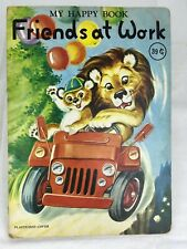 My Happy Book Animal FRIENDS AT WORK  Doeisha Japan Vintage Childrens Book