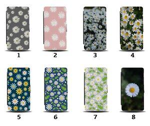 Daisies Flip Wallet Case Daisy Floral Spring Cartoon Petals Daisys Pink 8149
