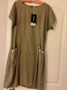 Yidarton women's linen dress Italian style