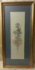 MARY VINCENT BERTRAND SIGNED NUMBERED FLORAL WATER COLOR PRINT MATTED & FRAMED