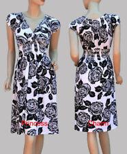 Regular Size Floral Casual Tea Dresses for Women