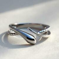 100% REAL Solid 925 Sterling Silver Snake Ring Resizable Adjustable Open Wrap UK