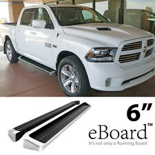 "eBoard Running Board Aluminum 6"" For 2009-2016 Dodge Ram 1500/2500/3500 Crew Cab"