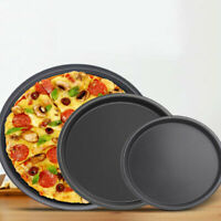 Round Pizza Plate Pan Deep Dish Tray Carbon Steel Non-stick Mold Baking Mold  um
