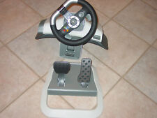 Microsoft Xbox 360 Wireless Force Feedback Steering Wheel and Pedals Sold As Is!