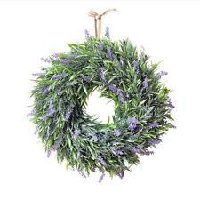 Lavender Floral Twig Wreath Artificial Plant Garland Door Wreaths Party Ornament