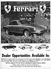 Old Print. 1968 Ferrari Modern Classic Motors Auto Advertisement
