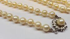 Collana di perle collier di perle 333 Oro (8 carati) CHIUSURA Akoya perle