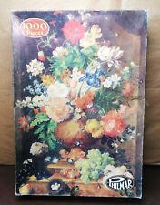 Vintage Philmar 1000 Piece Jigsaw Puzzle Flower Arrangements Complete