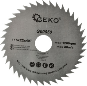 Circular Saw Blade For Wood 115 mm x 22 mm x 40 T  G2