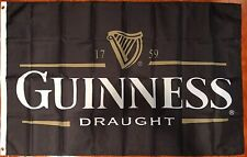 New listing Guinness Draught Beer Flag 3' X 5 Indoor Outdoor Banner Bar Pub Decor