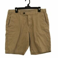 Brooks Brothers Mens size 36 Solid Khaki Beige Bermuda Chino Casual Shorts