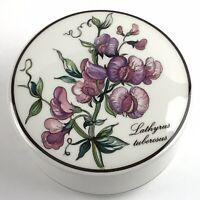 Villeroy & Boch Porcelain Trinket Box Botanica Lathyrus Tuberosus Sweet Peas