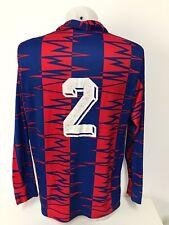 maglia calcio rossoblu vintage num.2 soccer tag.XL trikot maillot MC215