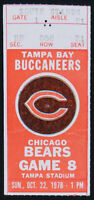 Tampa Bay Buccaneers Chicago Bears NFL Football 1978 Game 8 Ticket