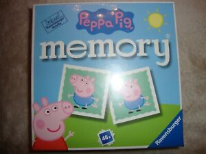 Peppa Pig Memory Match Game By Ravensburger For Children Aged 3 And Up Brand New
