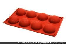 Paderno  Moule demi-sphère | Moule flexible en silicone - 8 demi-sphères