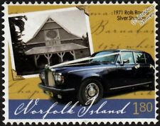 1971 ROLLS ROYCE SILVER SHADOW Classic Car Stamp (2008 Norfolk Island)