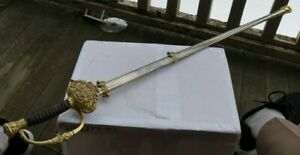 "RARE Vintage Antique 36"" Masonic Sword & Sheath Ames S.V. 1861 Military Brass NR"
