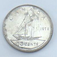 1978 Canada 10 Ten Cent Dime Canadian Brilliant Uncirculated Canadian Coin E809