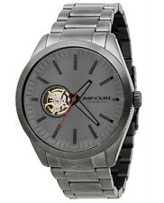 NEW RIP CURL SURF THE CIVILIAN AUTOMATIC GUNMETAL LIFESTYLE WRIST WATCH