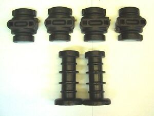 "Disc Harrow Axle Kit 2 Ribbed Spools + 4 Bearing Halves 7 1/2"" Long 1"" Square"