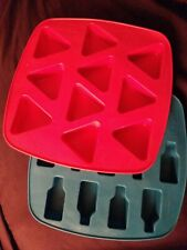 """IKEA Ice Cube Trays: One Bottles And One Triangles 7""""x7"""""""