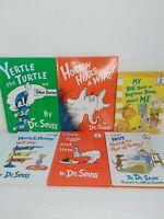 Lot of 6 Dr. Seuss Beginner Books Hardcover Green Eggs & Ham, Yertle Turtle, +++