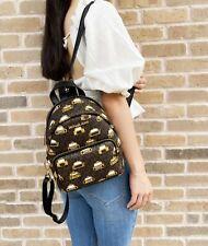 Michael Kors Erin Small Convertible Backpack Bag MK Brown Signature Leather