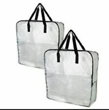 STRONG Large Clear/Transparent Plastic Zipped Storage Bags Saving Space by IKEA
