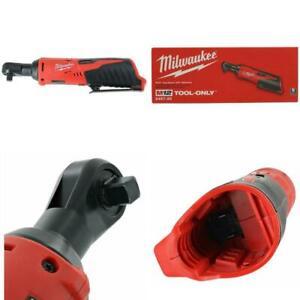"Milwaukee 2457-20 M12 Cordless 3/8"" Sub-Compact 35 ft-Lbs 250 RPM Ratchet w/ Var"