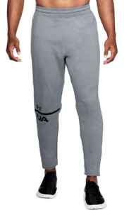 NWT UNDER ARMOUR UA MENS MK1 TERRY TECH TAPERED GRAY SWEAT PANTS SIZE XL MSRP$55