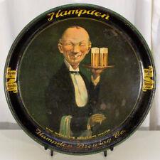 Hampden Ale •Handsome Waiter• Beer Serving Tray Willimansett, Massachusetts Mass