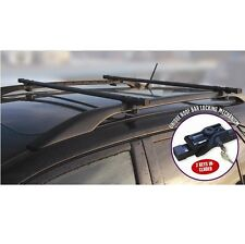 UNIVERSAL LOCKABLE ANTI THEFT CAR ROOF BARS FOR CARS WITH RAILS LOCKING ROOF BAR