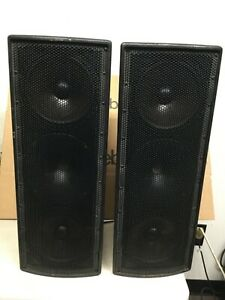 PAIR of EAW JF80 Speakers Passive Two-Way Trapezoidal Enclosure Free Shipping