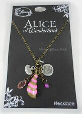 New Disney Alice In Wonderland Cheshire Cat Cluster Charm Pendant Necklace