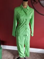 Callaway golf lime green jade Women new w tags sz 12 button set pant capri top