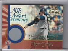2001 TOPPS GOLD LABEL #GLR-RC ROGER CLEMENS JERSEY BOSTON RED SOX 5047
