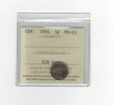 1904  ICCS Graded Canadian,  5 Cent, **MS-63**