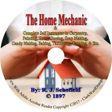 The Home Mechanic Book on CD Carpentry Soap Painting Tanning Taxidermy Candy