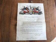 papier ancien militaire numéro 20 affiche 5eme db france d abord