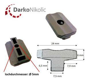 100-2000 Stk. WPC Clip Fugen 7,5 mm Abstandhalter für WPC Terrassendielen