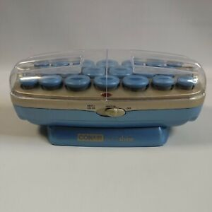 Conair Ion Shine Hot Rollers Curlers 20 Small Medium Large Blue No Clips Tested