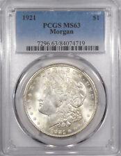 1921 Morgan Silver dollar PCGS MS-63 choice uncirculated brilliant White coin
